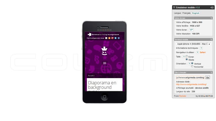 Emuler et tester son site internet sur mobile