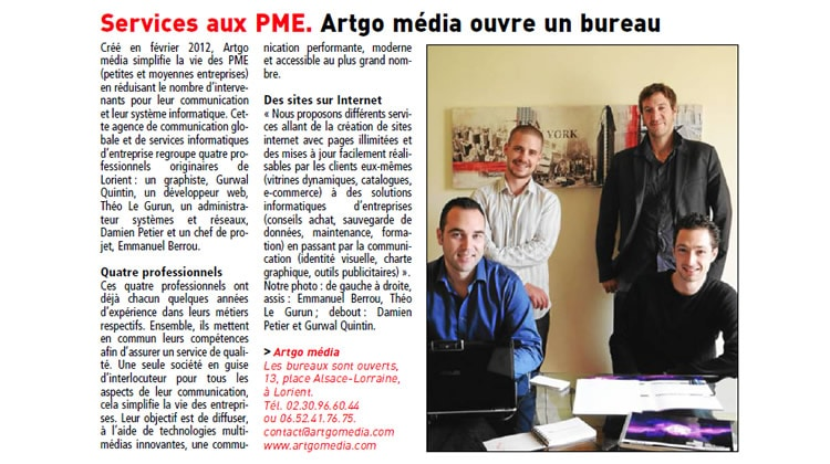 ARTGO média : Nouveau bureau, nouvel article !