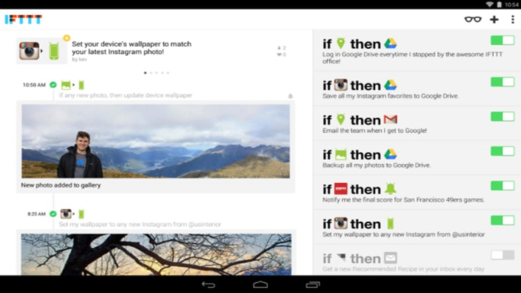 L'application IFTTT disponible pour les mobiles Android