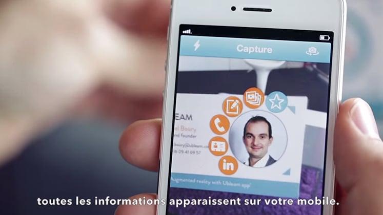 La Carte De Visite BleamCard En Realite Augmentee