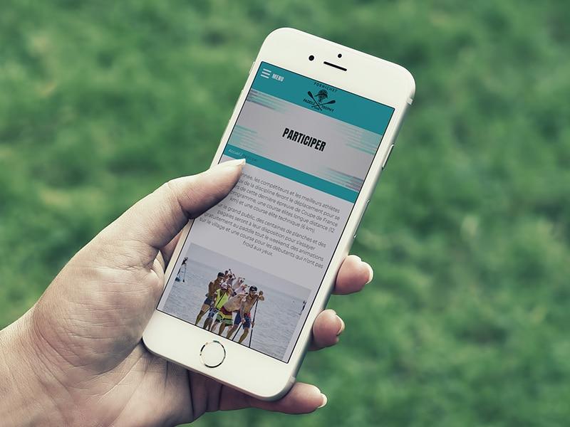 création site internet vitrine responsive événementiel