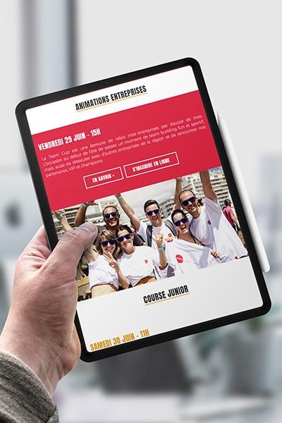 création site internet responsive événementiel