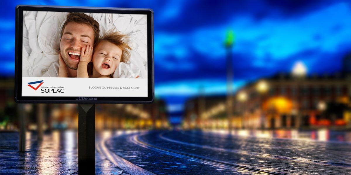 création panneau publicitaire