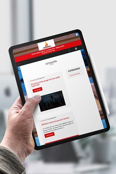 création de site internet vitrine responsive