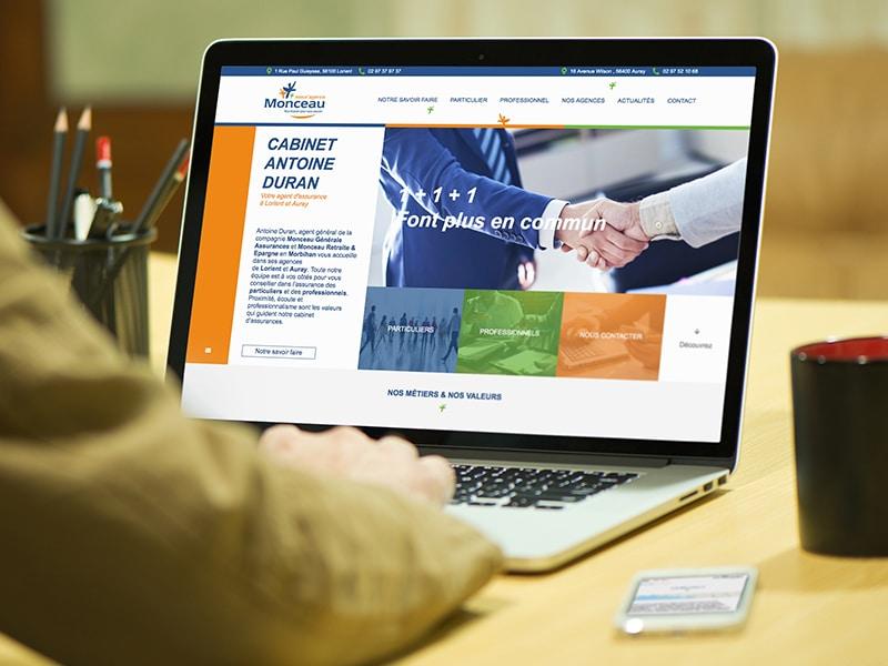 création site internet vitrine agence assurance morbihan