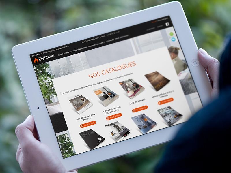 création site internet vitrine responsive