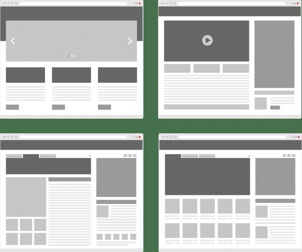 Le zoning (ou wireframe) du site internet
